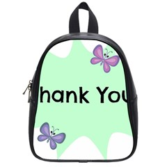 Colorful Butterfly Thank You Animals Fly White Green School Bags (small)  by Alisyart