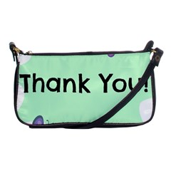 Colorful Butterfly Thank You Animals Fly White Green Shoulder Clutch Bags by Alisyart