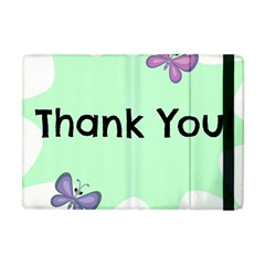 Colorful Butterfly Thank You Animals Fly White Green Apple Ipad Mini Flip Case by Alisyart