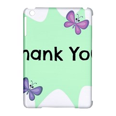 Colorful Butterfly Thank You Animals Fly White Green Apple Ipad Mini Hardshell Case (compatible With Smart Cover) by Alisyart
