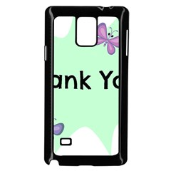 Colorful Butterfly Thank You Animals Fly White Green Samsung Galaxy Note 4 Case (black)