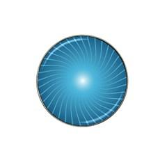 Dreams Sun Blue Wave Hat Clip Ball Marker (4 Pack) by Alisyart