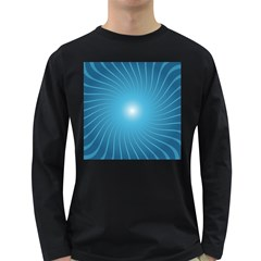 Dreams Sun Blue Wave Long Sleeve Dark T Shirts