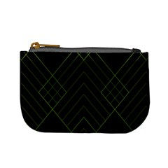 Diamond Green Triangle Line Black Chevron Wave Mini Coin Purses by Alisyart