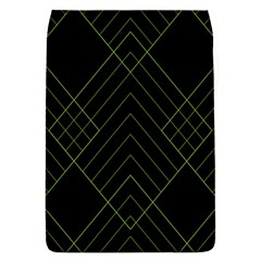 Diamond Green Triangle Line Black Chevron Wave Flap Covers (l)  by Alisyart