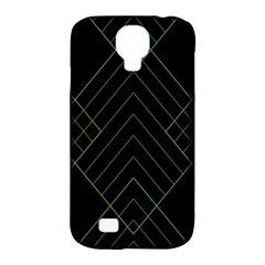 Diamond Green Triangle Line Black Chevron Wave Samsung Galaxy S4 Classic Hardshell Case (pc+silicone)