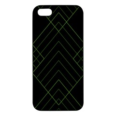 Diamond Green Triangle Line Black Chevron Wave Iphone 5s/ Se Premium Hardshell Case by Alisyart