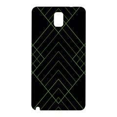 Diamond Green Triangle Line Black Chevron Wave Samsung Galaxy Note 3 N9005 Hardshell Back Case