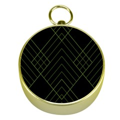 Diamond Green Triangle Line Black Chevron Wave Gold Compasses by Alisyart