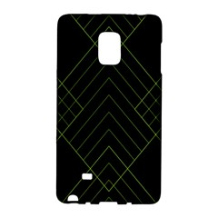 Diamond Green Triangle Line Black Chevron Wave Galaxy Note Edge by Alisyart
