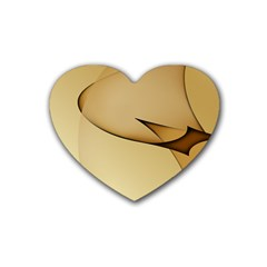 Edge Gold Wave Heart Coaster (4 Pack)  by Alisyart