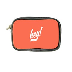 Hey White Text Orange Sign Coin Purse by Alisyart