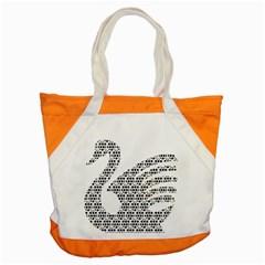 Honeycomb Swan Animals Black White Plaid Accent Tote Bag