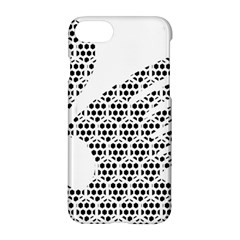 Honeycomb Swan Animals Black White Plaid Apple Iphone 7 Hardshell Case by Alisyart