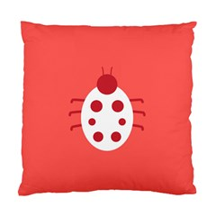 Little Butterfly Illustrations Beetle Red White Animals Standard Cushion Case (one Side)