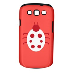 Little Butterfly Illustrations Beetle Red White Animals Samsung Galaxy S Iii Classic Hardshell Case (pc+silicone)
