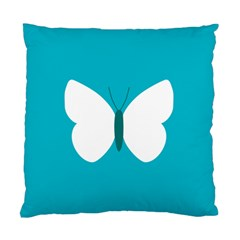 Little Butterfly Illustrations Animals Blue White Fly Standard Cushion Case (one Side)