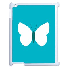 Little Butterfly Illustrations Animals Blue White Fly Apple Ipad 2 Case (white) by Alisyart
