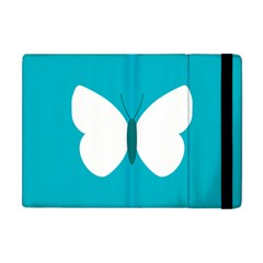 Little Butterfly Illustrations Animals Blue White Fly Apple Ipad Mini Flip Case by Alisyart