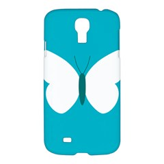 Little Butterfly Illustrations Animals Blue White Fly Samsung Galaxy S4 I9500/i9505 Hardshell Case