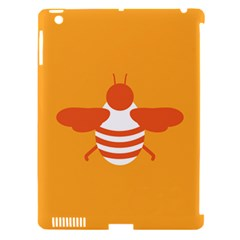 Littlebutterfly Illustrations Bee Wasp Animals Orange Honny Apple Ipad 3/4 Hardshell Case (compatible With Smart Cover)