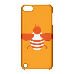 Littlebutterfly Illustrations Bee Wasp Animals Orange Honny Apple Ipod Touch 5 Hardshell Case With Stand