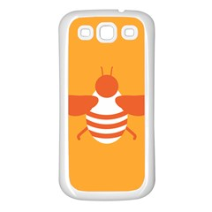 Littlebutterfly Illustrations Bee Wasp Animals Orange Honny Samsung Galaxy S3 Back Case (white)