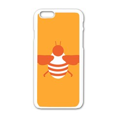 Littlebutterfly Illustrations Bee Wasp Animals Orange Honny Apple Iphone 6/6s White Enamel Case