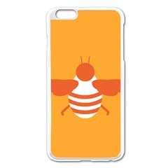 Littlebutterfly Illustrations Bee Wasp Animals Orange Honny Apple Iphone 6 Plus/6s Plus Enamel White Case