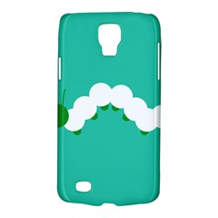 Little Butterfly Illustrations Caterpillar Green White Animals Galaxy S4 Active by Alisyart