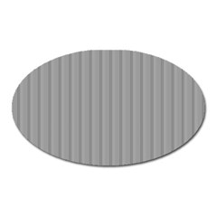 Metal Dark Grey Oval Magnet
