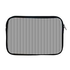 Metal Dark Grey Apple Macbook Pro 17  Zipper Case by Alisyart