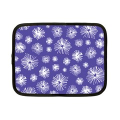 Aztec Lilac Love Lies Flower Blue Netbook Case (small)  by Alisyart