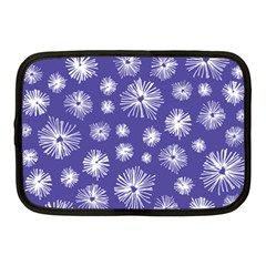 Aztec Lilac Love Lies Flower Blue Netbook Case (medium)