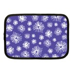 Aztec Lilac Love Lies Flower Blue Netbook Case (Medium)  Front