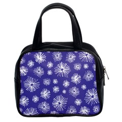 Aztec Lilac Love Lies Flower Blue Classic Handbags (2 Sides) by Alisyart