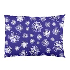 Aztec Lilac Love Lies Flower Blue Pillow Case by Alisyart
