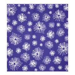 Aztec Lilac Love Lies Flower Blue Shower Curtain 66  X 72  (large)  by Alisyart