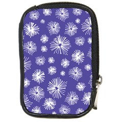 Aztec Lilac Love Lies Flower Blue Compact Camera Cases by Alisyart