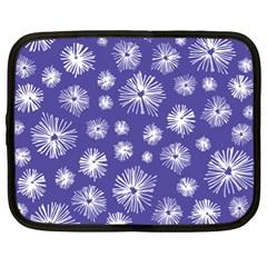 Aztec Lilac Love Lies Flower Blue Netbook Case (xl)  by Alisyart