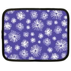 Aztec Lilac Love Lies Flower Blue Netbook Case (xxl)  by Alisyart
