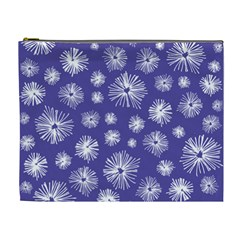 Aztec Lilac Love Lies Flower Blue Cosmetic Bag (xl) by Alisyart