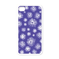 Aztec Lilac Love Lies Flower Blue Apple Iphone 4 Case (white) by Alisyart