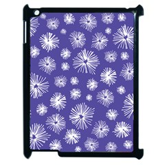 Aztec Lilac Love Lies Flower Blue Apple Ipad 2 Case (black) by Alisyart