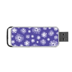 Aztec Lilac Love Lies Flower Blue Portable Usb Flash (one Side) by Alisyart