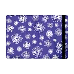 Aztec Lilac Love Lies Flower Blue Apple Ipad Mini Flip Case by Alisyart