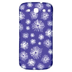 Aztec Lilac Love Lies Flower Blue Samsung Galaxy S3 S Iii Classic Hardshell Back Case by Alisyart