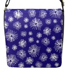 Aztec Lilac Love Lies Flower Blue Flap Messenger Bag (s) by Alisyart