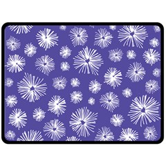 Aztec Lilac Love Lies Flower Blue Double Sided Fleece Blanket (large)  by Alisyart