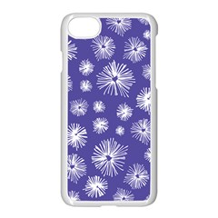 Aztec Lilac Love Lies Flower Blue Apple Iphone 7 Seamless Case (white) by Alisyart